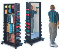 Combination Weight / Storage Rack With Equipment 18 X 30 X 72 Inch Black 5560-100 Each/1