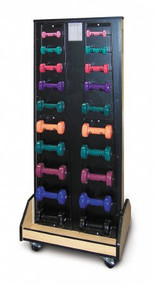 Combo Weight / Dumbbell Mobile Rack 24 W X 57 H X 18 D Inch, 3 Inch Swivel Easy Rolling Caster 5565 Each/1