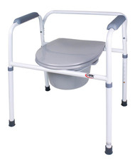 Commode Chair Carex Padded Fixed Arm Steel Frame FGB35711 0000 Each/1
