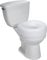Raised Toilet Seat driveª 4 Inch White 300 lbs. 12040-3 Case/3