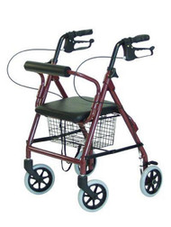 4 Wheel Rollator Lumex¨ Walkabout Junior Burgundy Lightweight Aluminum RJ4301R Each/1