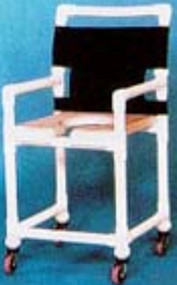 Shower Chair Deluxe Fixed Arm PVC Frame Mesh Back 17 Inch Clearance SC717N Each/1