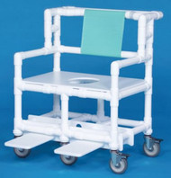 Bariatric Shower Chair ipu¨ Fixed Arm PVC Frame Mesh Back 21.5 Inch BSC660 Each/1