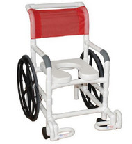 Self Propelled Transport Shower Chair PVC 21 Inch 131-18-24W-IF Each/1