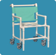Bariatric Shower Chair Original Oversize Fixed Arm PVC Frame Mesh Back 20 Inch Clearance SC9200 OS Each/1