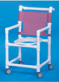 Shower Chair Select Fixed Arm PVC Frame Mesh Back 20 Inch Clearance ESC-20 Each/1