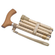 Folding Cane Switch Sticks Aluminum 32 to 37 Inch Engraved Pearl Gold 502-2000-5202 Each/1