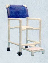 Commode / Shower Chair 500 Series Fixed Arm PVC Frame 20 Inch 520WFC12 Each/1
