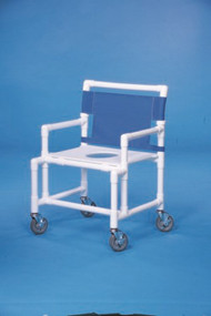 Shower Chair Oversize Fixed Arm PVC Frame Mesh Back 19 Inch Clearance SC200-OS-FS Each/1