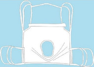 Seat Commode Sling 4 or 6 Points With Head Support Straps - Attached Small 600 lbs 13254S Box/1