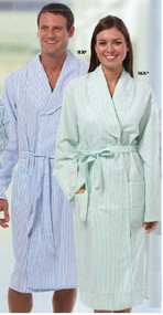 Patient Robe Unisex Large Blue Stripe Reusable 1830-L Each/1