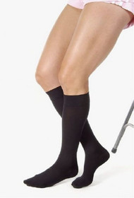 Compression Stockings JOBST Relief Knee High Large Black Closed Toe 114738 Pair/1
