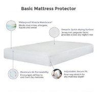 Mattress Protector Protect-A-Bed¨ 14 X 72 X 80 Inch Knit Polyester For Hotel King Size Mattress BAS0260 Case/10