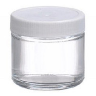 Sample Jar Straight Sided, Wide Mouth Soda-lime Glass with Polypropylene Cap 2 oz. W216903 Case/24
