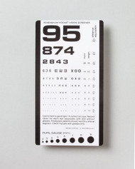 Eye Test Chart McKesson 14 Inch Pocket 63-3053 Each/1