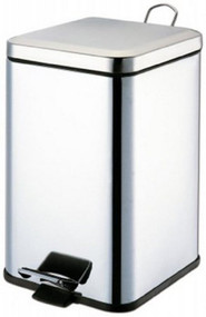Grafco¨ Trash Can 21 Quart Square Silver Stainless Steel Step On 8359 Each/1