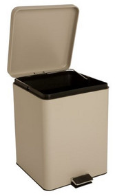 McKesson Trash Can with Plastic Liner 20 Quart Square Beige Steel Step On 81-35271 Each/1