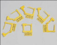 Tamper Evident Locking Tag Snap-Lock Yellow Plastic PS-100 Carton/100