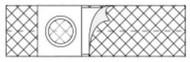 Hernia Belt Medium, Adult 4 Inch 2666 Each/1