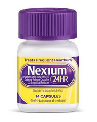 Antacid Nexium¨ 24HR 22.3 mg Strength Capsule 14 per Bottle 2031698 Box/28
