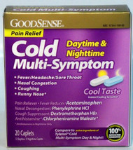 Cold Relief GoodSense 325 mg / 10 mg / 5 mg Strength Tablet - AAA00551 - Box/20