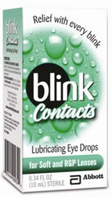 Lubricant Eye Drops Blink Contacts 10 mL Drop 1187558 Each/1