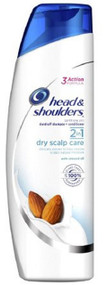 Dandruff Shampoo and Conditioner Head and Shoulders¨2N1 Dry Scalp Care 13.5 oz. Squeeze Bottle Scented 37000913610 Case/6
