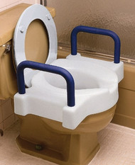 Toilet Seat Tall-ette¨ Extra Wide, 22-1/2 Inch W, Contoured Soft Foam Armrests 725891000 Each/1