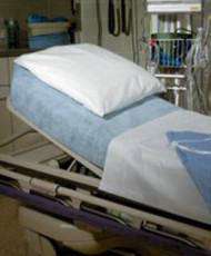 Stretcher Sheet Snug-Fit¨ Fitted 40 X 89 Inch Blue Nonwoven Fabric Disposable 49896 Case/25