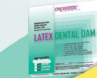 EENT Drape Crosstex¨ Mint Dental Dam 6 X 6 Inch NonSterile 19400 Box/36
