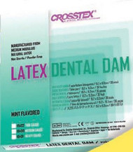 EENT Drape Crosstex¨ Mint Dental Dam 5 X 5 Inch NonSterile 19200 Box/52