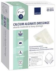 Calcium Alginate Dressing Abena¨ 2 X 2 Inch Square Calcium Alginate Sterile 2614 Case/100