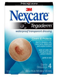 Transparent Dressing Nexcareª Tegadermª Assorted (5) 1-3/4 X 1-3/4 Inch, (5) 2-3/8 X 2-3/4 Inch 2 Tab Delivery Without Label Sterile TEGA-10 Pack/10