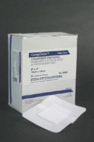 Adhesive Dressing Compdress¨ 6 X 6 Inch Gauze Square White Sterile 89066 Case/100