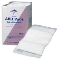 Abdominal Pad NonWoven / Cellulose / Moisture Barrier 8 X 10 Inch Rectangle Sterile NON21454 Each/1