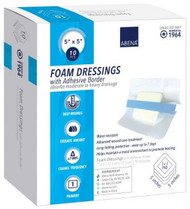 Foam Dressing Abena¨ 5 X 5 Inch Square Adhesive with Border Sterile 1964 Case/100