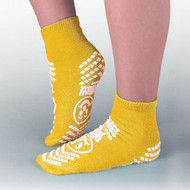 Fall Management Slipper Socks Pillow Paws® Risk Alert® Terries™ 2X-Large Yellow Ankle High 3902-001 Pair/1