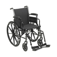 Lightweight Wheelchair drive™ Cruiser III Dual Axle Desk Length Arm Flip Back / Removable Padded Arm Style Swing-Away Footrest Black Upholstery 20 Inch Seat Width 300 lbs. Weight Capacity 146-K320ADDA-SF Each/1