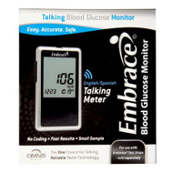 Blood Glucose Meter Embrace® 6 Second Results Stores Up To 300 Results with Date and Time No Coding Required APX01AB0200 Each/1