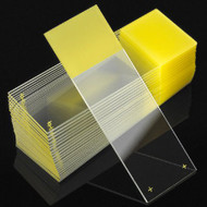 Microscope Slide Diamond® White Glass Charged 25 X 75 X 1 mm Yellow Frosted End 1358Y Box/72