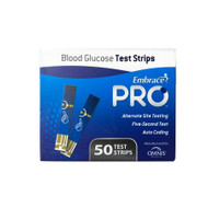 Blood Glucose Test Strips Embrace® 50 Strips per Box sample size , 0.5 Microliter For Embrace® Blood Glucose System ALL02AM0202 Case/15000