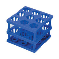 Tube Cube Rack McKesson 9 Place 8 to 16 mm Tube Size Blue 3 X 3 X 3 Inch 3096 Case/4
