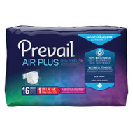 Unisex Incontinence Brief Prevail® Air Plus™ Size 1 Heavy Absorbency PVBNG-012CA Case/96