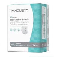 Unisex Adult Incontinence Brief Tranquility® Essential Large Disposable Heavy Absorbency 2746 Case/72