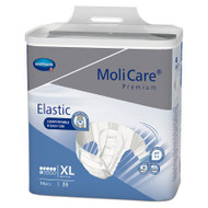 Unisex Adult Incontinence Brief MoliCare® Premium Elastic 6D X-Large Disposable Moderate Absorbency 165274 Bag/14
