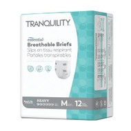 Unisex Adult Incontinence Brief Tranquility® Essential Medium Disposable Heavy Absorbency 2745 Bag/12