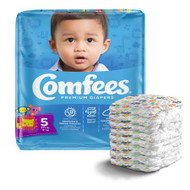 Unisex Baby Diaper Comfees® Size 5 Disposable Moderate Absorbency CMF-5 Bag/27