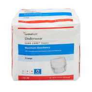 Unisex Adult Absorbent Underwear Sure Care™ Pull On with Tear Away Seams X-Large Disposable Heavy Absorbency 1225A Each/1