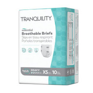 Unisex Adult Incontinence Brief Tranquility® Essential X-Small Disposable Heavy Absorbency 2743 Case/100