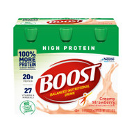 Oral Supplement Boost® High Protein Creamy Strawberry Flavor Ready to Use 8 oz. Bottle 00041679944660 Pack/6